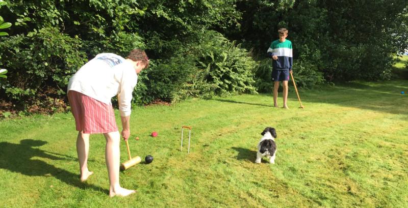 Croquet in the manse garden