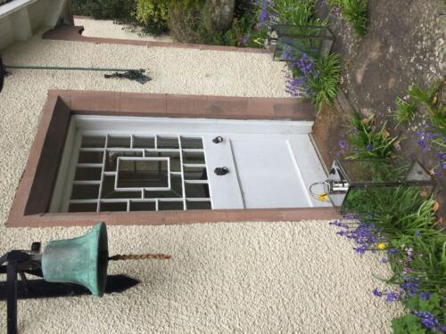 Front door of The Old Manse of Monzie