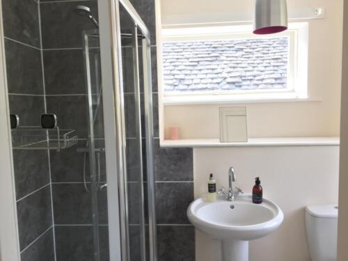 Modern shower in ensuite