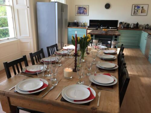 Table set for 12 guests